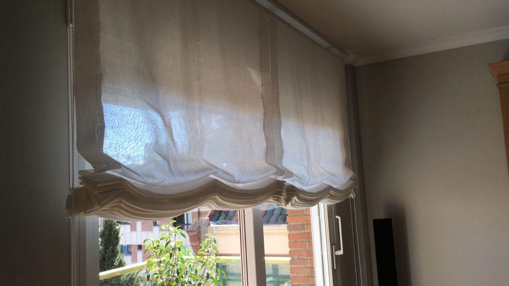 cortinas tipo paqueto o estor