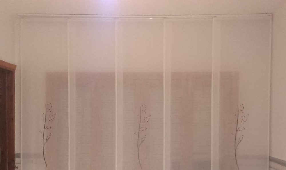 cortina tipo panel japonés