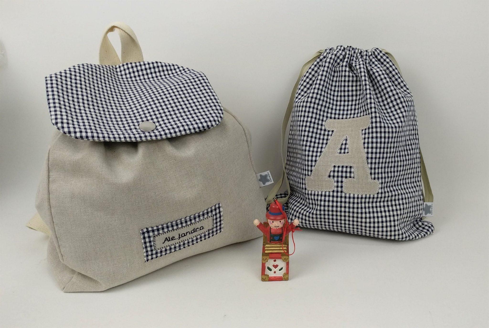 Pack mochila tela + bolsa merienda